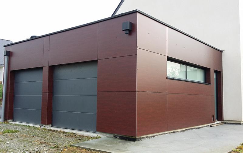 Garage Structure Bois - Réalisations de travaux de charpente bois sur Rennes Gueguen Construction